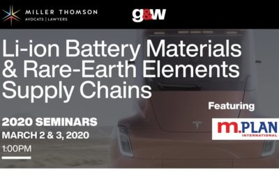 Managing Director, David Anonychuk presents at Lithium-ion Battery Materials & Rare-Earth Elements Supply Chain event