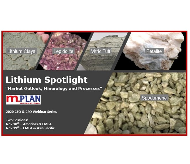 "Register for M.Plan's 3rd webinar in the CEO and CFO Webinar Series on Nov 18th/Nov 19th: ""Lithium Spotlight – Outlook, Mineralogy and Processes"""